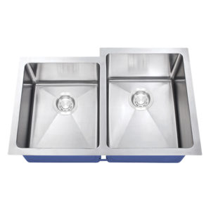 Dakota Signature Series 40/60 Micro Radius Offset Undermount 16 Gauge Stainless Steel Sink