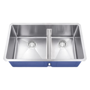 Dakota Signature Series 60/40 Micro Radius Low Divide Undermount 16 Gauge Stainless Steel Sink
