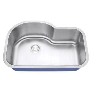 "Dakota Signature Series 31"" x 21"" Standard Radius Undermount 16 Gauge Stainless Steel Sink"