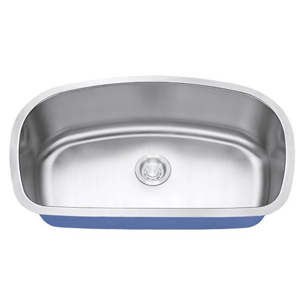 "Dakota Signature Series 33"" x 19"" Standard Radius Undermount 16 Gauge Stainless Steel Sink"