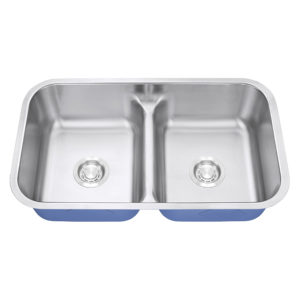 Dakota Signature Series 50/50 Standard Radius Low Divide Undermount 16 Gauge Stainless Steel Sink