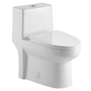 DSW-1EP18W One-Piece Toilet 3/4 View