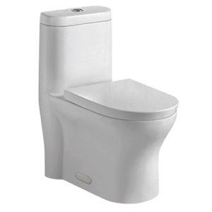 DSW-1EP76W One-Piece Toilet 3/4 View