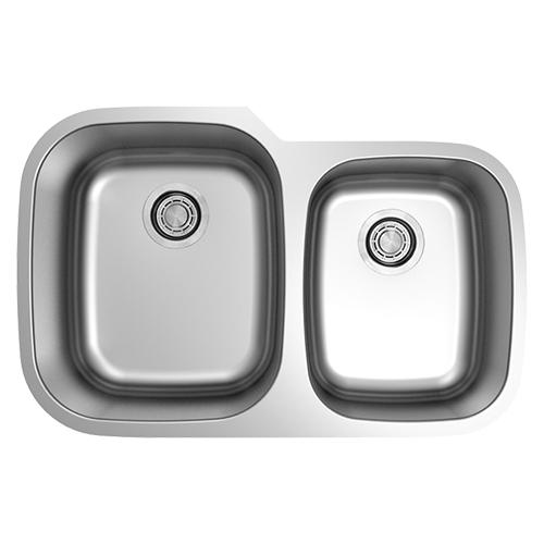 GSR-18-6040 - Dakota™ Kitchen Sinks, Faucets, Vanities, Tubs ... on large stainless sink, double bowl apron front sink, elkay undermount sink, mosaic tile sink, upc sink, low divide sink, 24 double bowl undermount sink, triple bowl kitchen sink, extra large kitchen sink, 24 kitchen sink, double kitchen sink, offset kitchen sink, stainless steel deep sink, laminate undermount sink, 60 40 stainless sink, small round prep sink, 60 40 integrated kitchen sink, best 16-gauge kitchen sink, blanco 40 60 sink,