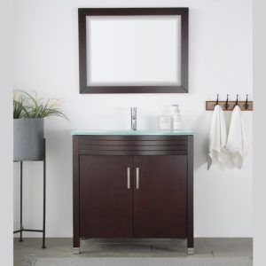 V-31-36T-5 tobacco colored vanity
