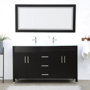 V-31-60-72E-4 dark color double vanity