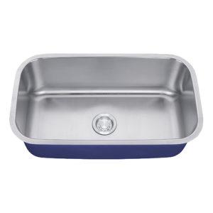"Dakota Signature Series 32"" x 18"" Standard Radius Undermount 16 Gauge Stainless Steel Sink"