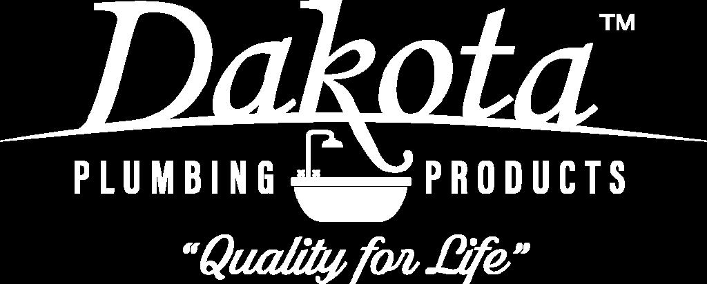 Dakota Plumbing Products Logo White - Quality for Life