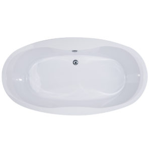 DST-FSOCB02 Free Standing Oval Tub Top View